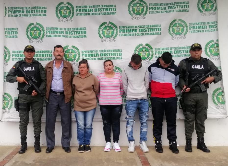 05 capturas por Orden Judicial desarticulación los PACHINES