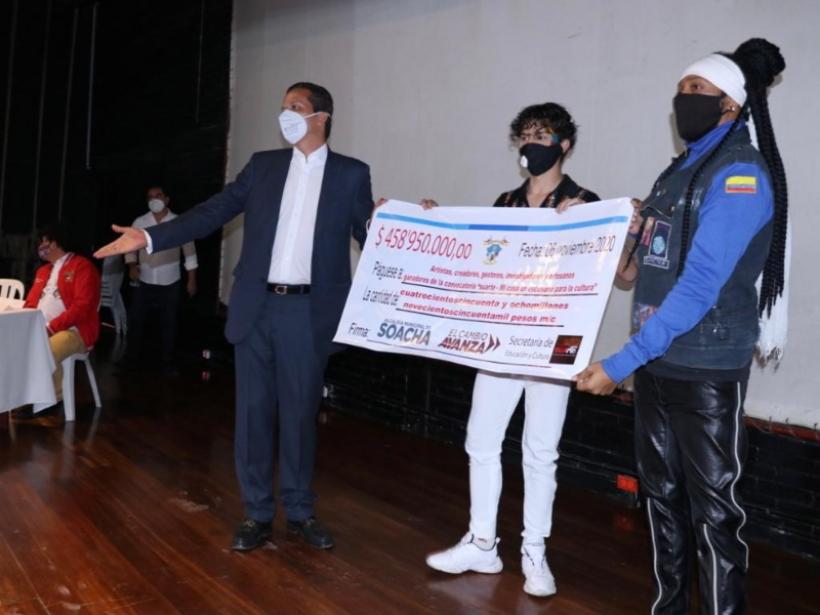 Artistas y gestores culturales de Soacha recibieron $458 millones en incentivos