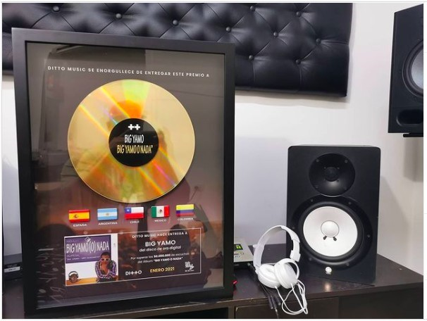 Ditto Music entrega Disco deOroa Big Yamo