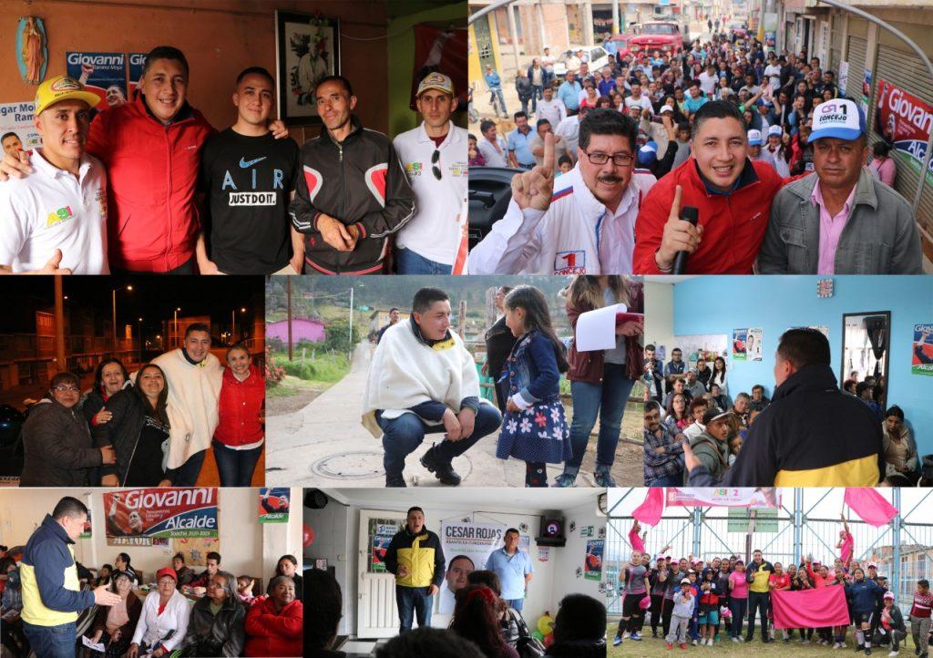 Miles de soachunos conocen a Giovanni y su propuesta de progreso para Soacha