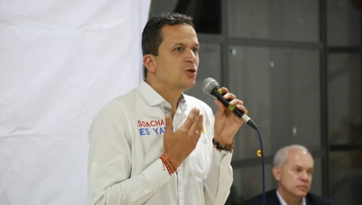 """""""Seré el primer policía que pondrá el pecho y combatirá la delincuencia en Soacha"""": Juan Carlos Saldarriaga"""