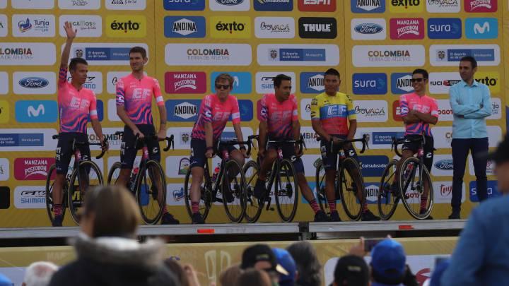 El EF de Urán e Higuita voló en la crono por equipos y ganó la primera etapa del Tour Colombia 2.1